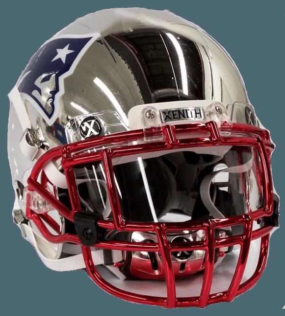 New England Patriots Chrome Plated Football Helmet