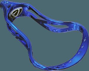 Custom chromed blue lacrosse equipment